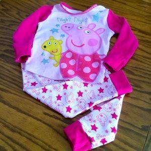 Peppa Pig 🐷 Pajama Set, Sz 2T